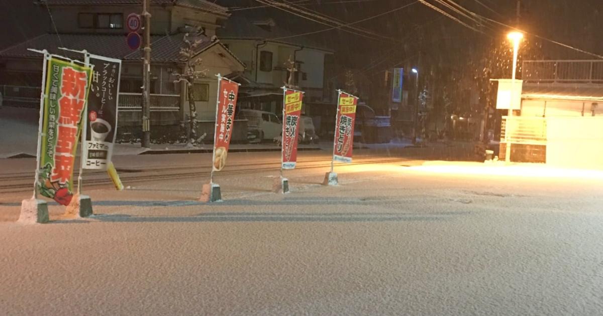 しんしんと積もる雪。